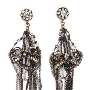 Badgley Mischka Couture Chandelier Bow Earrings